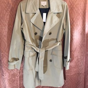 New With Tags Ann Taylor Loft Beige Trench